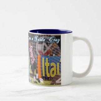 Canecaのcomemorativa da Goleadaはサンタクルスをします ツートーンマグカップ