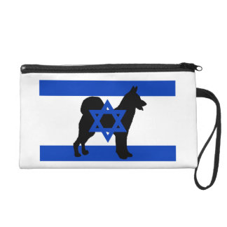 cannan犬のシルエットのflag_of_israel