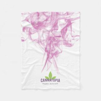 Cannatopiaのピンクの煙のフリースブランケット フリースブランケット