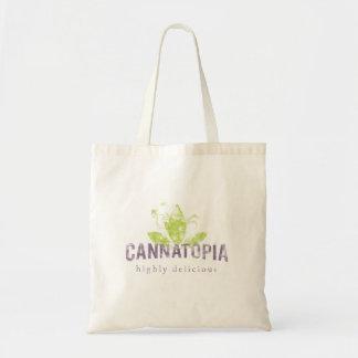 Cannatopiaの煙のロゴのキャンバスのトート トートバッグ