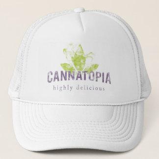 Cannatopiaの煙のロゴのトラック運転手の帽子 キャップ