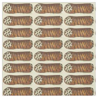 Cannoliチョコレートにイタリアンなペストリーの生地を取って下さい ファブリック