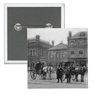 Canonburyの場所、Islington、c.1905 5.1cm 正方形バッジ