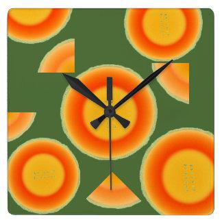 Cantalopeのメロンのフルーツの柱時計 スクエア壁時計