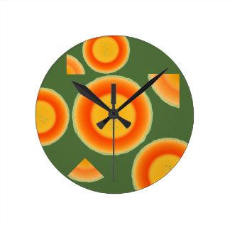 Cantalopeのメロンのフルーツの柱時計 ラウンド壁時計