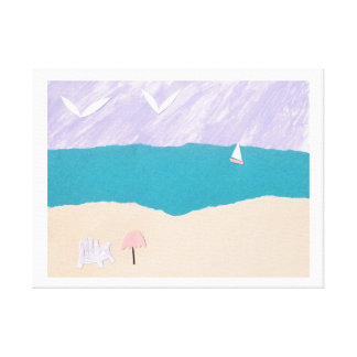 Canvas Print with Beach Design キャンバスプリント