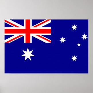 Canvas Print with Flag of Australia ポスター