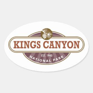 Canyon王の国立公園 楕円形シール