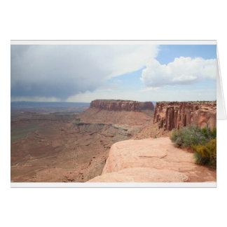 Canyonlandsの国立公園の空白のなカード カード