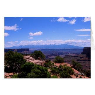 Canyonlandsの国立公園 カード