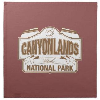 Canyonlandsの国立公園 ナプキンクロス