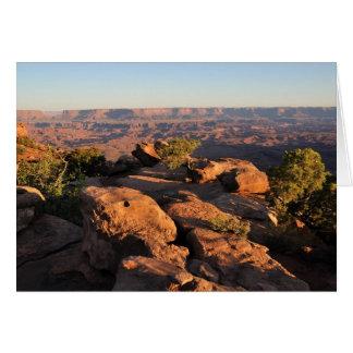 Canyonlandsの国立公園-針は見落とします カード