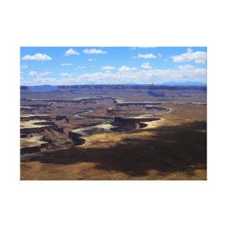 Canyonlands上の影 キャンバスプリント
