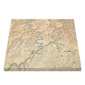 Canyonlands (ユタ)の地図のキャンバスのプリントのハート キャンバスプリント