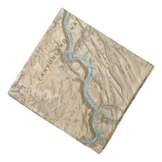 Canyonlands (ユタ)の地図のバンダナのハート バンダナ