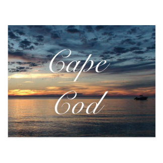 Cape Cod Sunset Ocean Postcard ポストカード