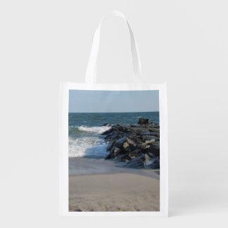 Cape Mayの灯台及び海岸線 エコバッグ