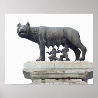 Capitolineのオオカミの彫像(彼女オオカミの乳児)、 ポスター