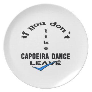 Capoeiraのダンスの許可を好まなければ プレート