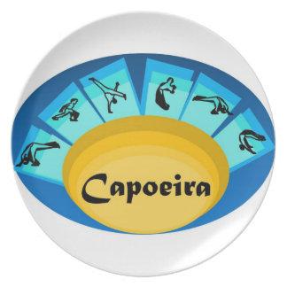 capoeiraの武道の黒帯のcordoの斧をめっきして下さい プレート