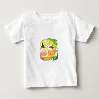 capoeiraのgingaの斧のワイシャツのベビーの子供 ベビーTシャツ