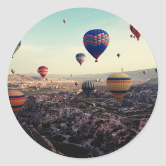 Cappadociaトルコの熱気の気球 ラウンドシール