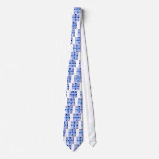 Cappanella V1 -青い正方形 ネクタイ