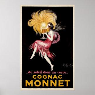 Cappielloのヴィンテージポスターによるコニャックモネ ポスター