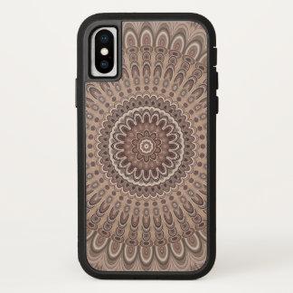 Cappuccino mandala iPhone x ケース