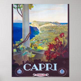 Capriイタリアの美しい眺め ポスター