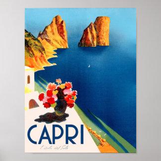 Capri、イタリア旅行ポスター ポスター