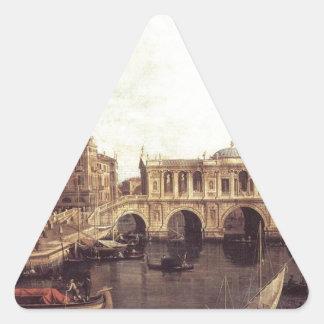 Capriccio: 想像の大運河、 三角形シール