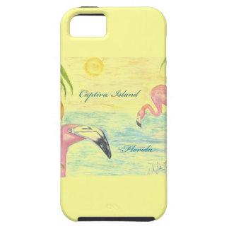 Captivaの島のフラミンゴのフロリダの芸術 iPhone SE/5/5s ケース