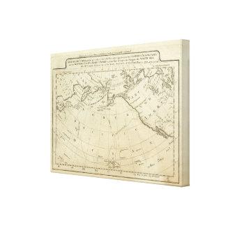 Captsの調理師及び事務員がなす発見の地図 キャンバスプリント