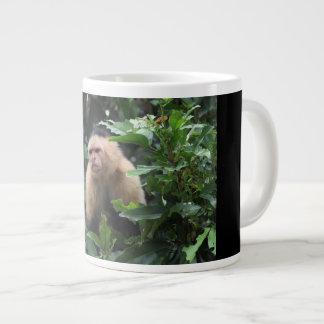 Capuchin猿、パナマのジャングル、写真撮影 ジャンボコーヒーマグカップ