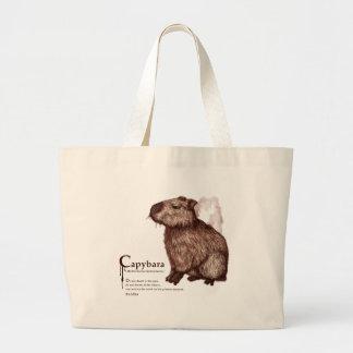 capybara - chocolate ラージトートバッグ