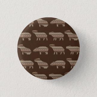 Capybara Pattern 3.2cm 丸型バッジ