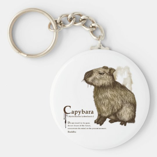 capybara - sepia キーホルダー