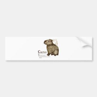 capybara - sepia バンパーステッカー