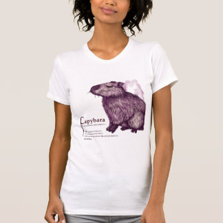 capybara - wine tシャツ