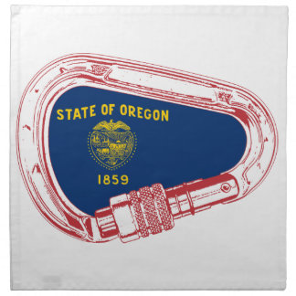 Carabinerに上るオレゴンの旗 ナプキンクロス