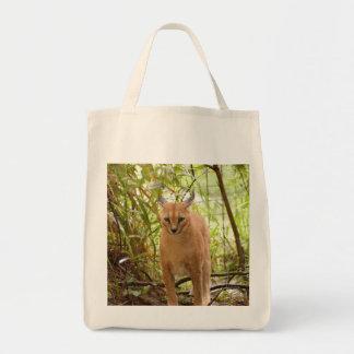Caracalのオオヤマネコのバッグ トートバッグ