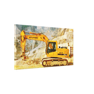 Cararraの大理石の石切り場の坑夫、キャンバスプリントのプリント キャンバスプリント