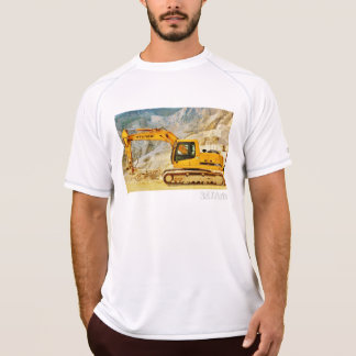 Cararraの石切り場のハンマー・ドリル、人は網のティーを乾燥します Tシャツ