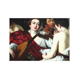 Caravaggioミュージシャン キャンバスプリント