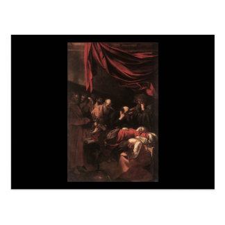 Caravaggioヴァージンの死 ポストカード