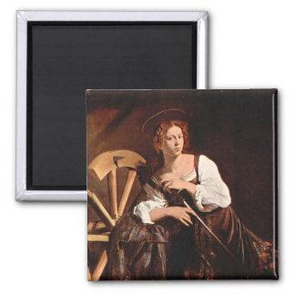 Caravaggio著アレキサンドリアのSt.キャサリン マグネット