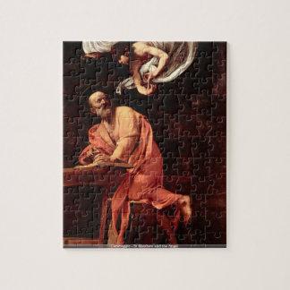 Caravaggio -セントマシュー島および天使 ジグソーパズル