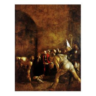 Caravaggio (1608年)著聖者ルーシーの埋葬 ポストカード