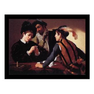Caravaggio Cardsharps ポストカード
